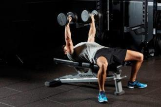Bench press dumbbell